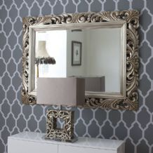 "48"" x 36"" LG French Carved Decorative Bevelled Mirror - 6.5"" Wide Frame"